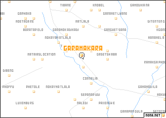 map of Ga-Ramakara