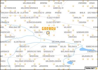 map of Garbów