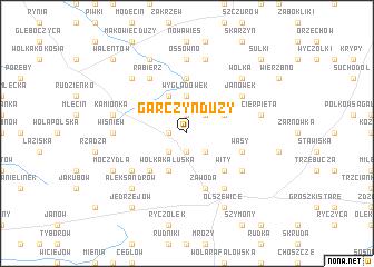 map of Garczyn Duży