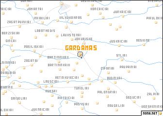 map of Gardamas