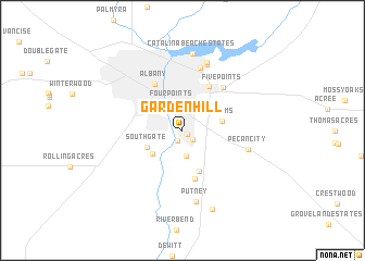 map of Garden Hill