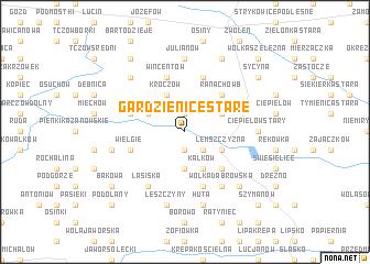 map of Gardzienice Stare