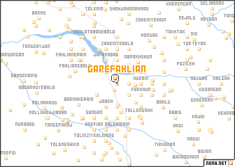 map of Gar-e Fahlīān
