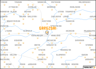 map of Gargždai