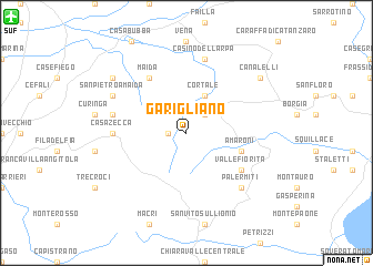 map of Garigliano