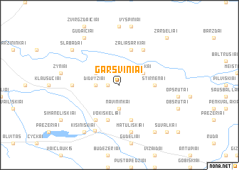 map of Garšviniai