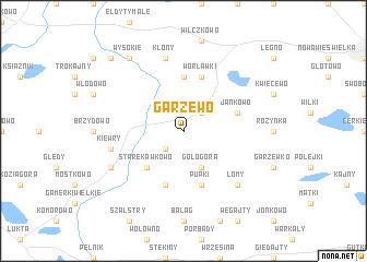 map of Garzewo