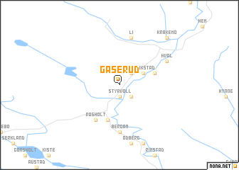 map of Gåserud