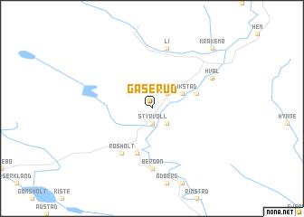 map of Gåserud