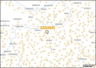 map of Gašpari