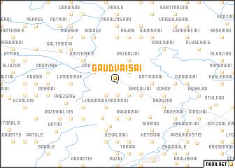 map of Gaudvaišai