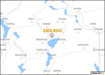map of Gaulavik