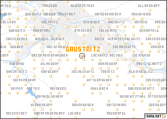 map of Gaustritz