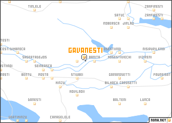 map of Găvăneşti