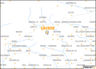 map of Gavano