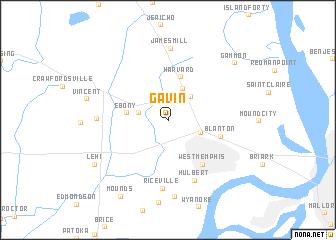 map of Gavin