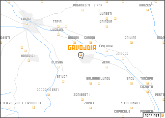 map of Gavojdia