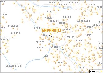 map of Gavranići