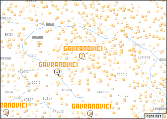 map of Gavranovići