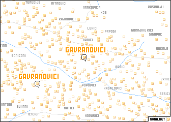 map of Gavranovići