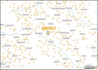 map of Gavrići