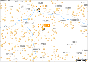 map of Gavrići