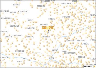 map of Gavrić