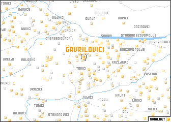 map of Gavrilovići