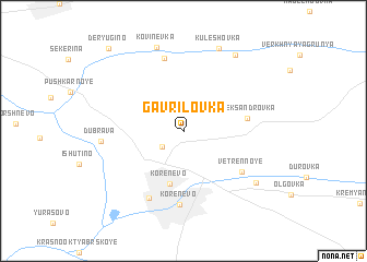 map of Gavrilovka
