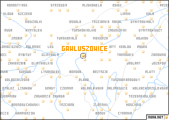 map of Gawłuszowice