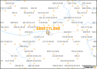 map of Gawrzyłowa