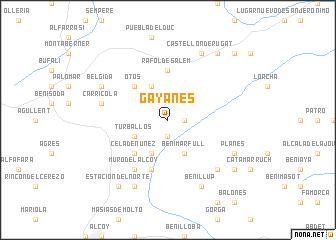 map of Gayanes