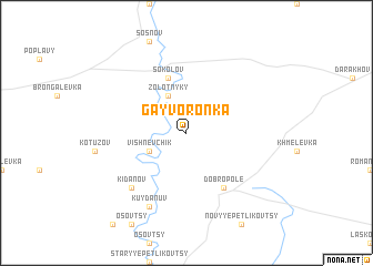 map of Gayvoronka