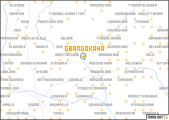 map of Gbandokaha