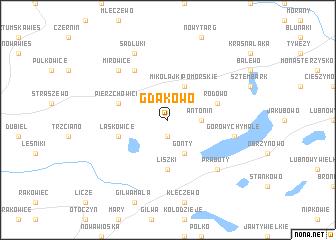 map of Gdakowo