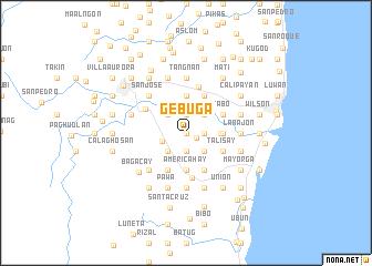 map of Gebuga