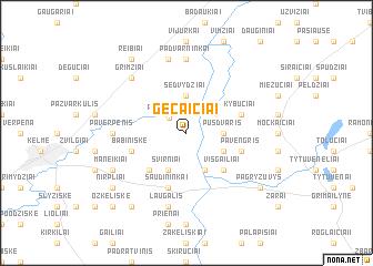 map of Gečaičiai