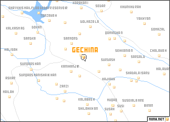 map of Gechina