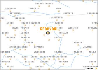map of Gedvydai