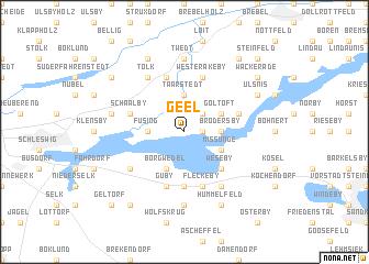 map of Geel
