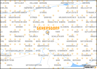 map of Gehersdorf
