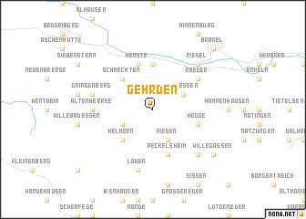 map of Gehrden