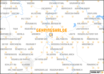 map of Gehringswalde