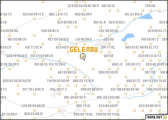 map of Gelenau