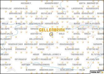 map of Gellenbrink