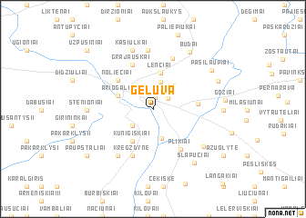 map of Gėluva