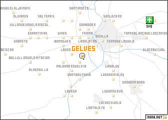map of Gelves