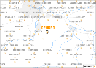 map of Gempen