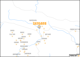 map of Gendǝrǝ