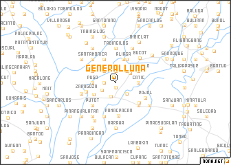 map of General Luna